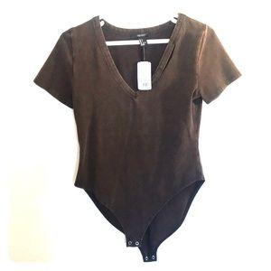 Copper/brown Bodysuit - Forever 21